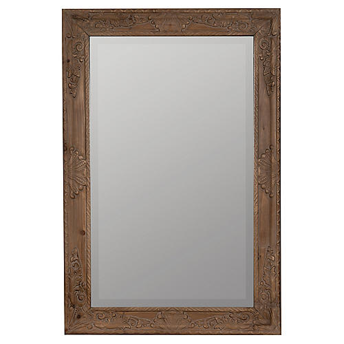 Masey Rectangular Wall Mirror, Natural