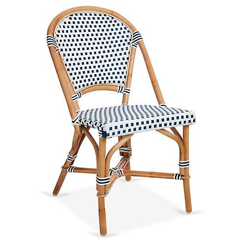 Chloe Bistro Chair, White/Navy
