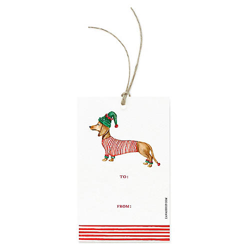 S/12 Dachshund Gift Tags