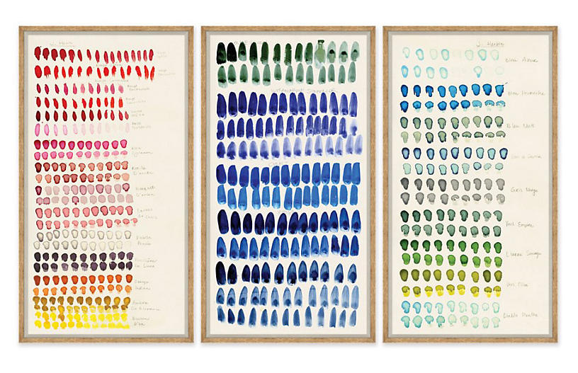 Susan Hable, Swatch: Rose, Blue & Green