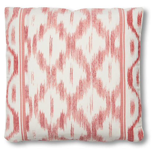 Monica 18x18 Pillow, Faded Red