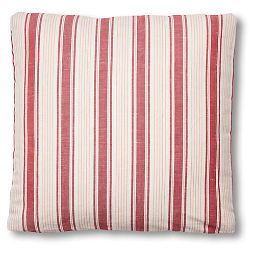 Ojai Stripe 18x18 Pillow, Red