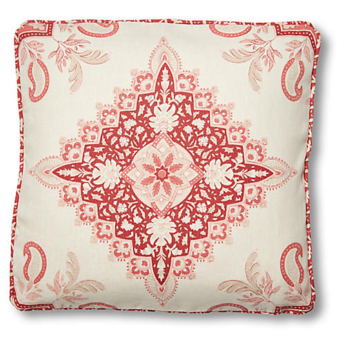 Montecito 18x18 Pillow, Faded Red Linen