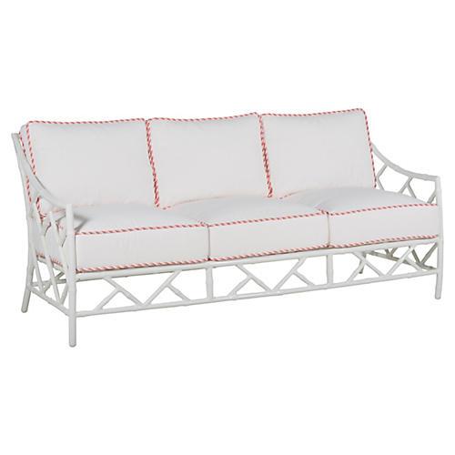 Kit Sofa, White/Pink