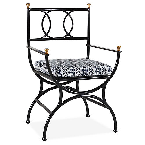 Frances Bistro Chair, Indigo Leaf