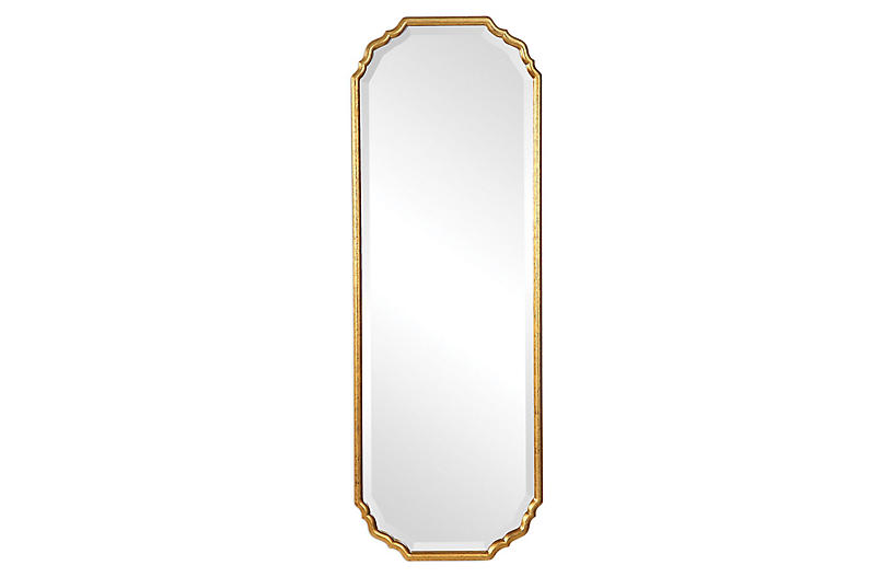 Soleia Wall Mirror, Gold Leaf