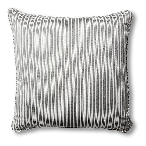 Frances Pillows, Black/White Stripe