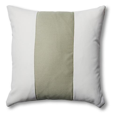 S/2 Newport Pillows, White/Sage