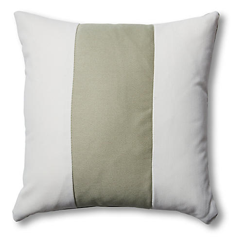 Newport Pillows, White/Sage
