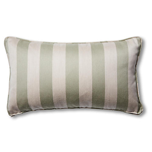 S/2 Newport Lumbar Pillows, Sage