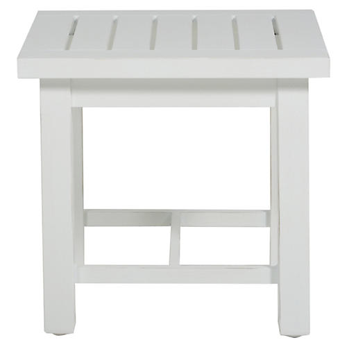 Club Side Table, French Linen