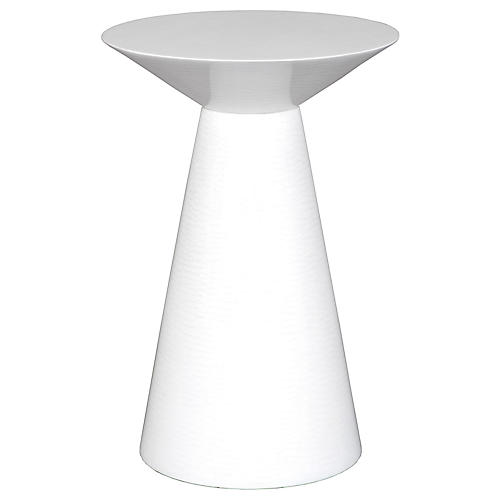 Giselle Side Table, White