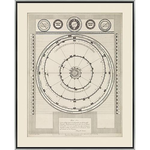 Celestial Map Maps, Silver/Black