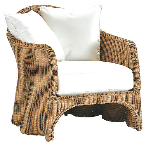 Crespi Lounge Chair, Natural