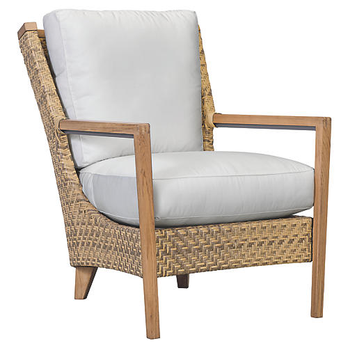 Cote d'Azur Lounge Chair, Natural/Taupe