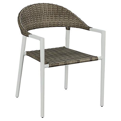 Essentials Amaral Stacking Armchair, White