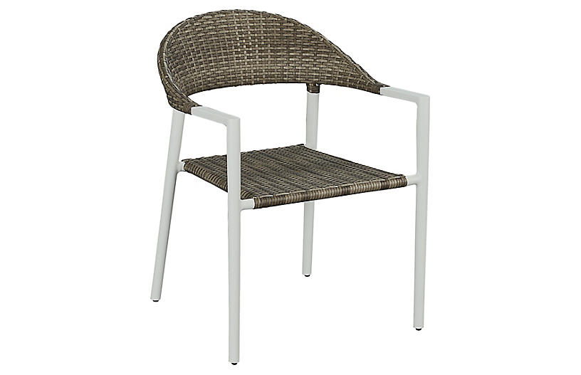Essentials Amaral Stacking Armchair, White