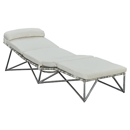 Jewel Chaise, Gray/Natural