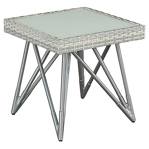 Jewel Side Table, Gray/Natural