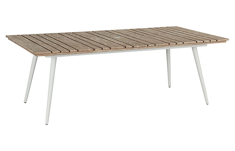 Essentials Rect. Dining Table, White/Weathered