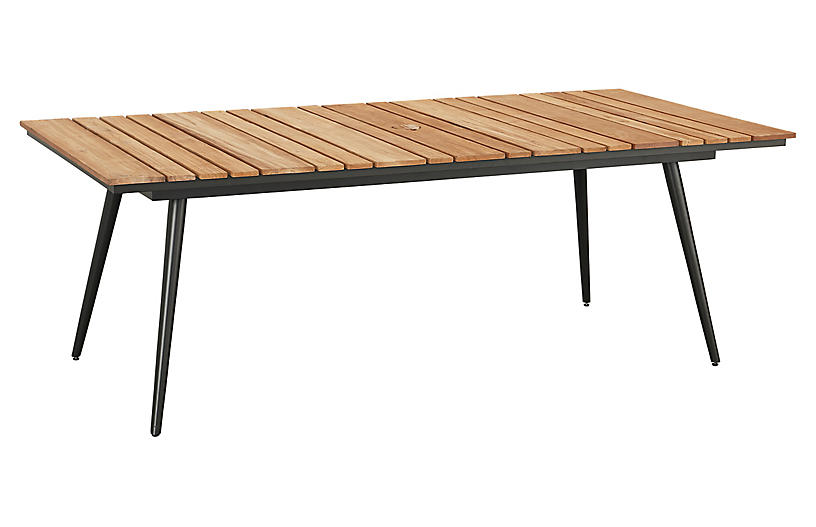 Essentials Rect. Dining Table, Black/Teak