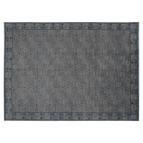 Loha Hand-Knotted Rug, Blue-Gray