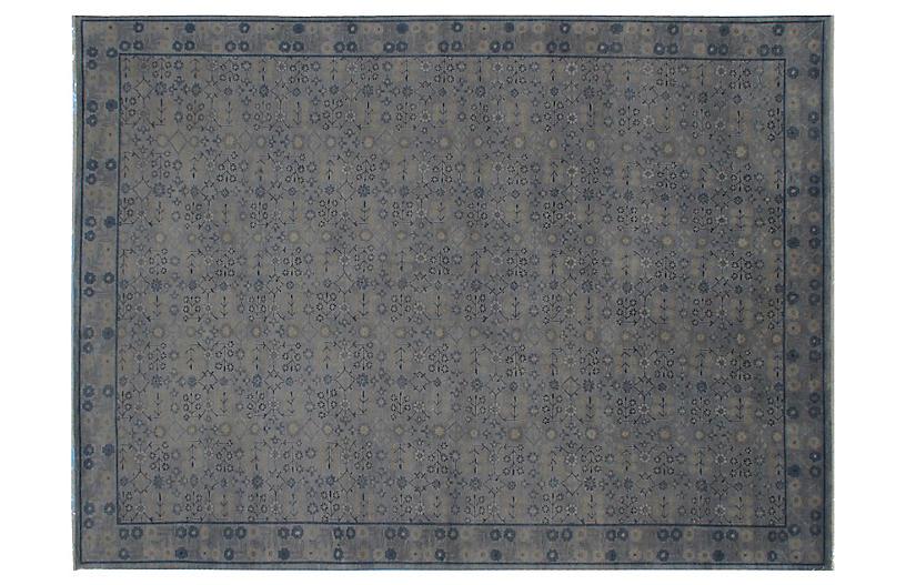 Loha Hand-Knotted Rug, Blue-Gray