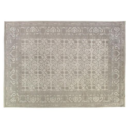 10'x14' Obra Hand-Knotted Rug, Taupe/Sand