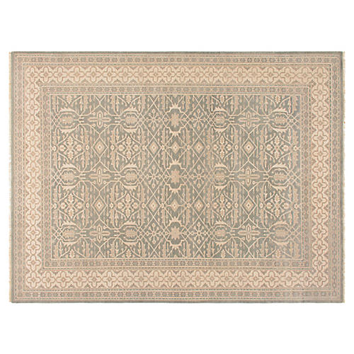 Tihu Hand-Knotted Rug, Beige/Gray