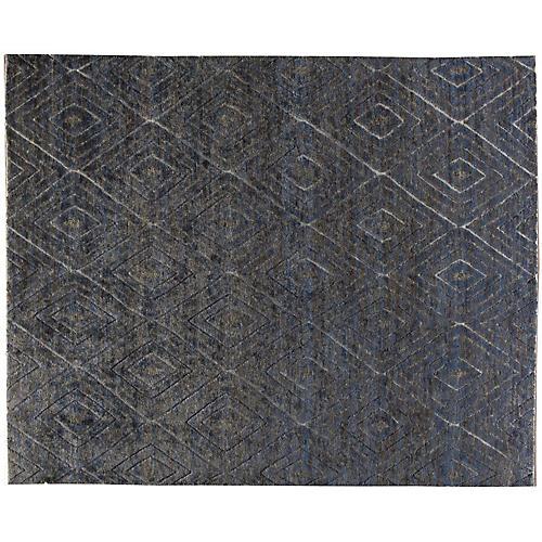 Akoda Hand-Knotted Rug, Blue