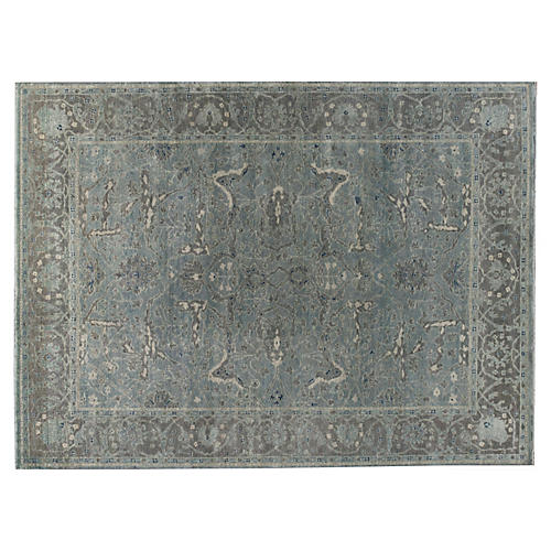 Anand Hand-Knotted Rug, Blue/Gray