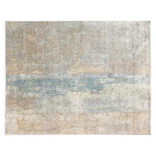"7'11""x10'1"" Kagal Hand-Knotted Rug, Beige/Multi"