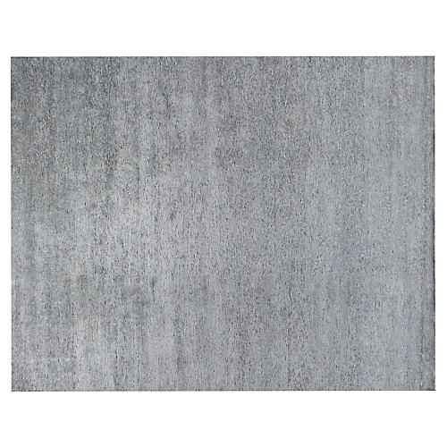 Baberu Hand-Knotted Rug, Gray