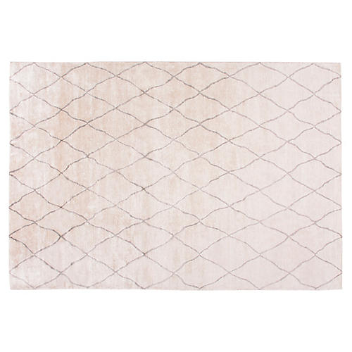 Kallur Hand-Knotted Rug, Ivory/Gray