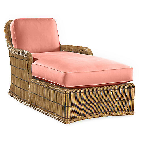 Rafter Chaise, Coral