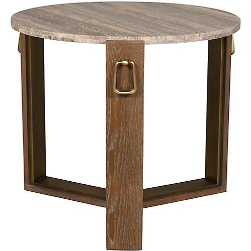 Pen Yan Side Table, Brown Gray