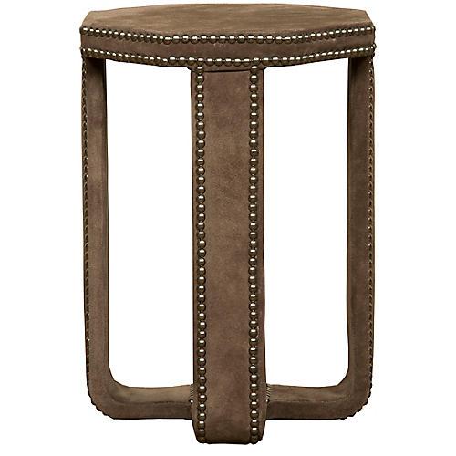 Eastwood Upholstered Side Table, Smoke
