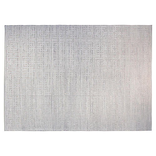 9'x12' Natalie Rug, Silver
