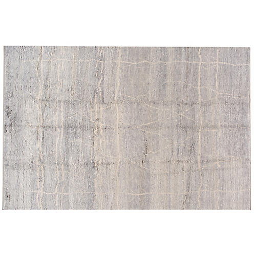 "9'11""x14'6"" Linza Moroccan Rug, Gray"