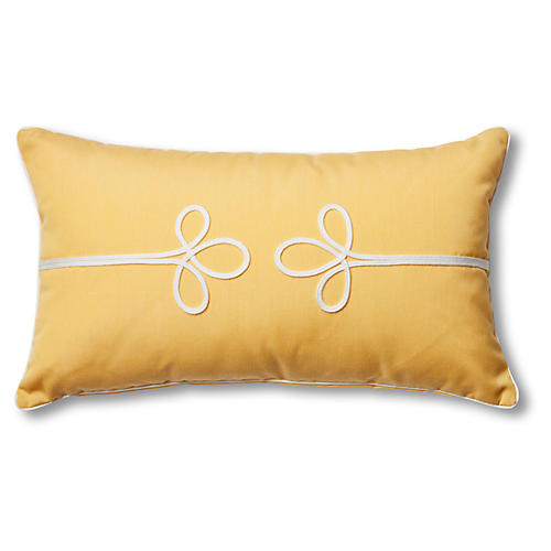 Kit 13x22 Outdoor Lace Cord Pillow, Yellow