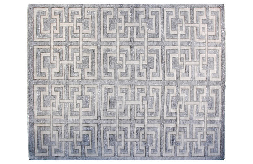 9'x12' Perry Rug, Silver