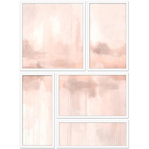 Spliced Pink Abstract II Set