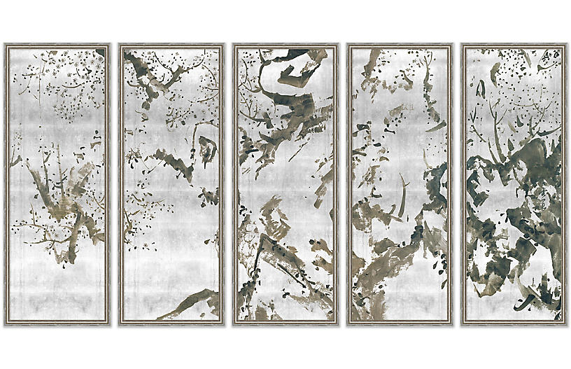 Lillian August, Blossoming Plum Trees 1-5