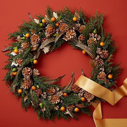 "18"" Autumn Beauty Wall Wreath, Green/Multi"