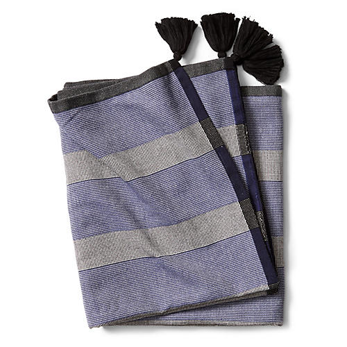Tulum Beach Towel, Cadet