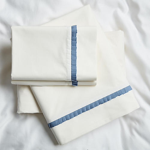 Carrie Sheet Set, Blue