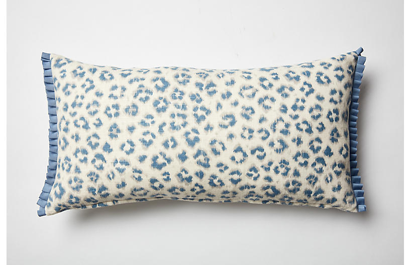 Carrie Leopard Boudoir Sham, Blue