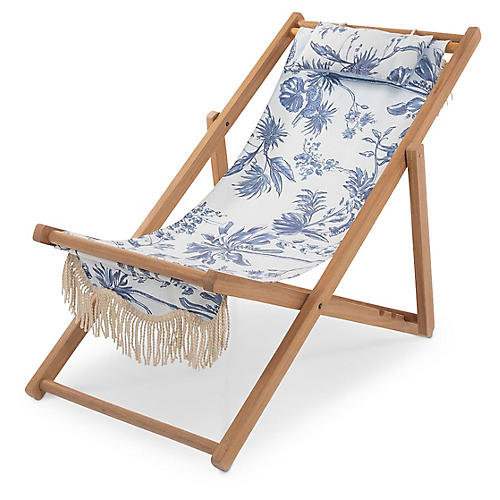 Sling Beach Chair, Chinoiserie