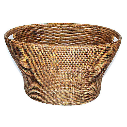 "24"" Goucher Oval Basket, Brown"