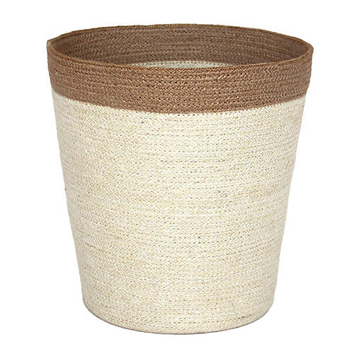 "14"" Merrion Basket, White/Natural"